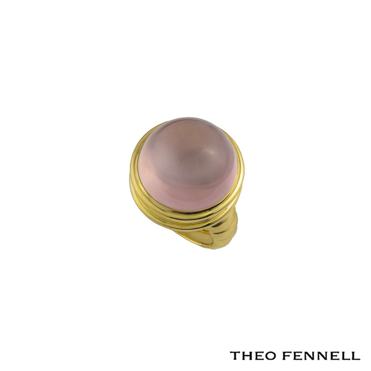 Theo Fennell 18k Yellow Gold Moonstone Ring.